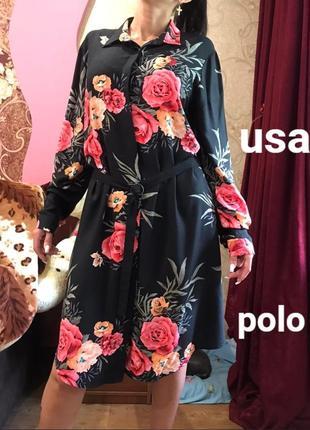 Оригинальное  красивое платье , платье рубашка  cша