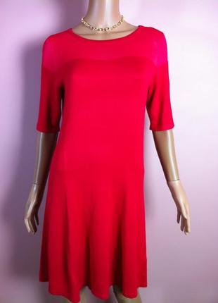 Шикарное новое  трикотажное  красное платье f&f