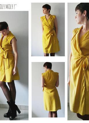 Платье на запах горчичного цвета от next,p.8