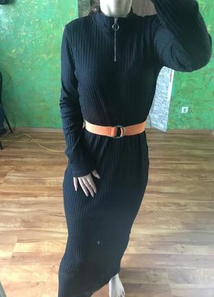 Платье длинное , макси , чёрное базовое jasminah paris