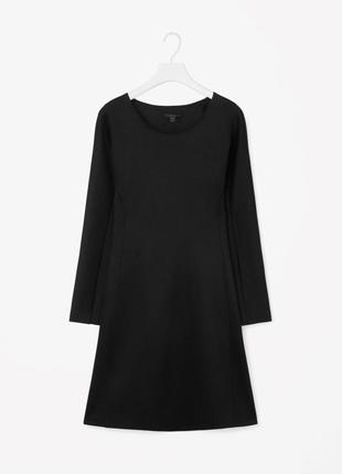 Cos платье / туника плотное средней длины, черный цвет, размер xs