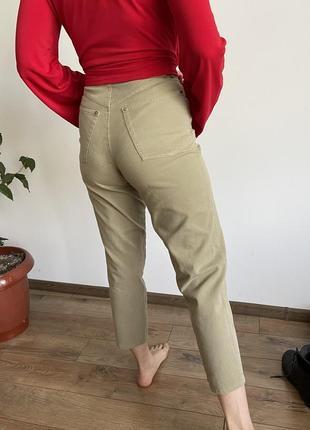 Брюки джинсы летний высокая посадка палаццо клеш скинии zara h&m denim