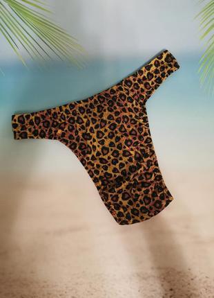 Леопардовые стринги funny, купальные плавки