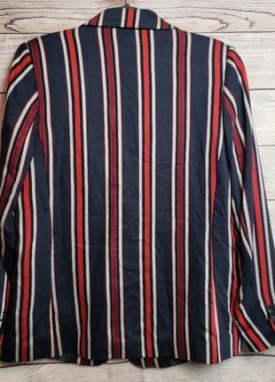 Яркий пиджак жакет блейзер в полоску  h&m3 фото