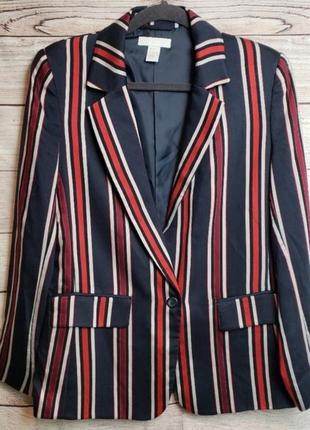 Яркий пиджак жакет блейзер в полоску  h&m2 фото