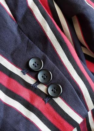 Яркий пиджак жакет блейзер в полоску  h&m6 фото