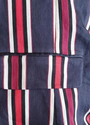 Яркий пиджак жакет блейзер в полоску  h&m5 фото
