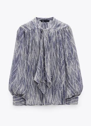 Новая блуза блузка рубашка с анималистичным принтом zara