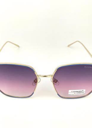 Солнцезащитные очки «shine» с золото-голубой металлической оправой