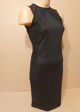 Вечернее элегантное платье h&m. черное сексуальное платье h&m с кружевами. платье футляр миди