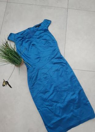 Плаття по фігурі атласне