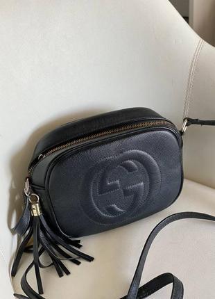 Чорна сумка клатч