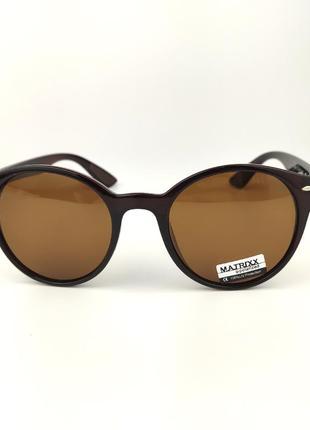 Солнцезащитные очки «stone» c коричневой роговой оправой и коричневой линзой