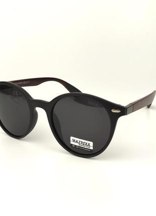 Солнцезащитные очки «stone» c черной роговой оправой и темно-серой линзой