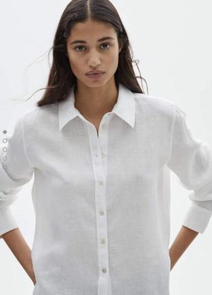 Рубашка  massimo dutti, лен