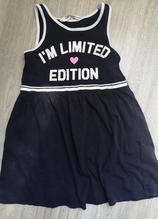 Стильное лёгкое платьице h&m на модницу 3-4 года
