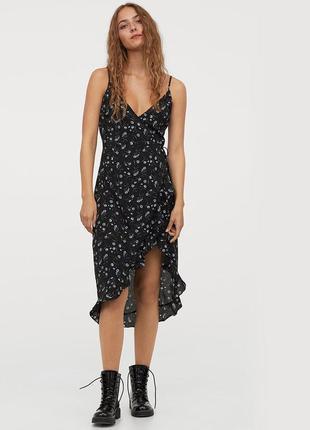 Платье на бретелях на запах, сарафан  плаття сукня на запах