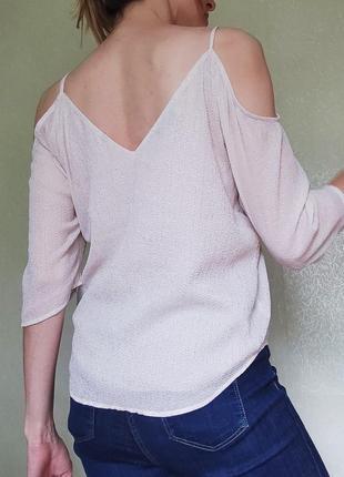 Супер блуза gina tricot с открытыми плечиками