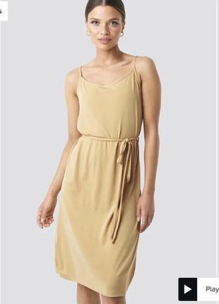 Платье с поясом базовое