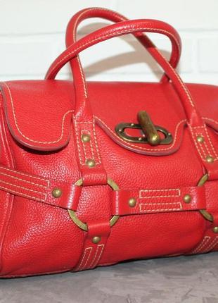 Кожаная сумка от бренда luella