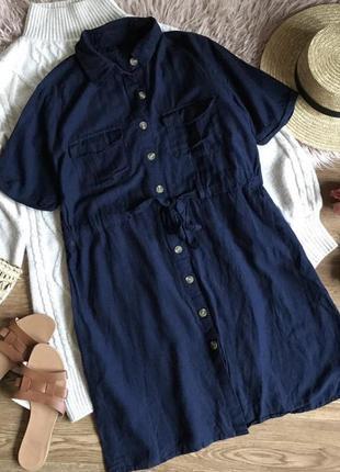 Платье рубашка на пуговицах