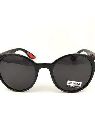 Солнцезащитные очки «stone» c черной роговой оправой и черной линзой