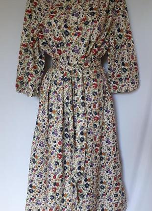 Батистовое платье с карманами в мелкий цветочный принт country collection (размер 18-20)