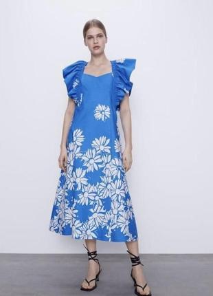 Шикарное платье из текущей коллекции 2021 zara