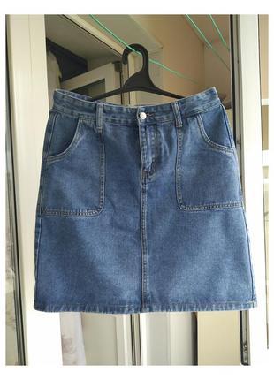 Джинсовая юбка (новая) xl