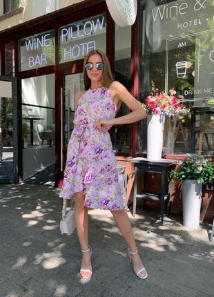 Платье-сарафан с воланом