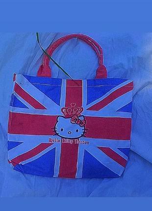 Оригинальный шоппер sansio hello kitty еко сумка панк винтаж