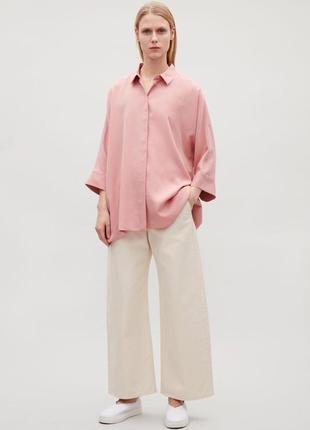 Стильная дизайнерская свободная рубашка-блуза из лиоцела бренд cos 1+1=3