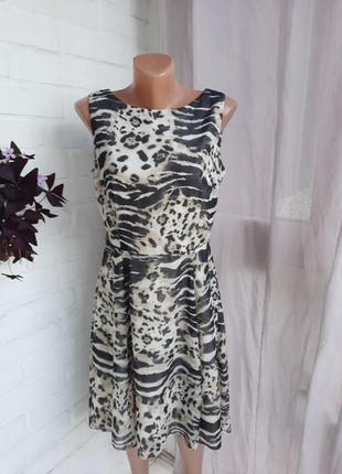 Очаровательное платье с анималистичным принтом