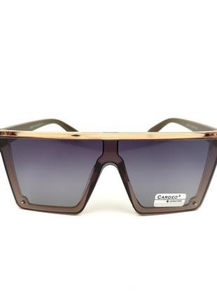 Солнцезащитные очки «сelin» с коричневой оправой и черной градиентной линзой