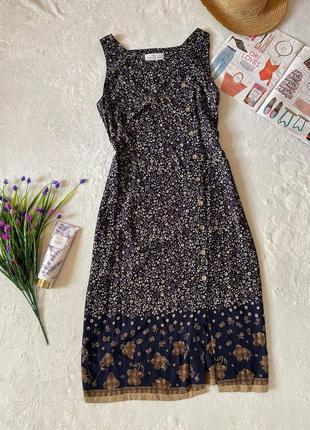 Платье сарафан миди вискоза 💯 16 размер сукня плаття віскоза