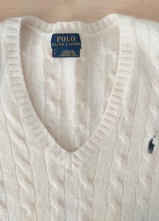 Polo ralph lauren  l-xl  свитер шерсть + кашемир