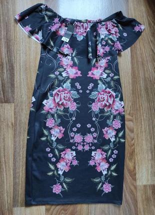 Платье черное с открытыми  плесчами