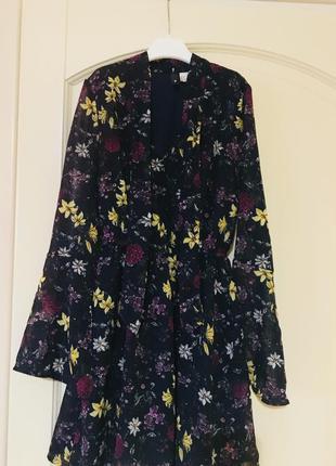 Цветочное платье h&m,размер xs-s