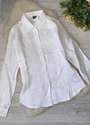 Белая рубашка лён