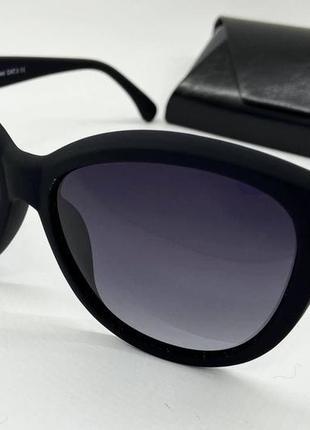 Atmosfera очки женские солнцезащитные матовые черные кругляшки с поляризацией