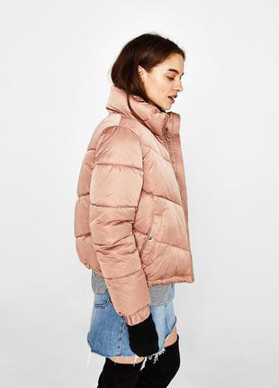 Новая утепленная куртка на синтепоне bershka (xs-l)