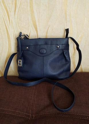 Темно-синяя кожаная сумка debenhams