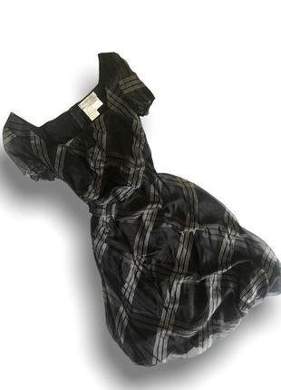 Шёлковое платье миди с пышной юбкой