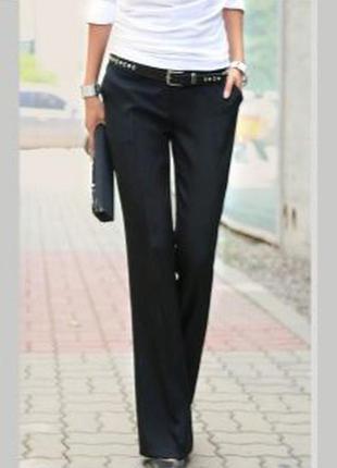 Черные классические брюки шерсть mexx 34
