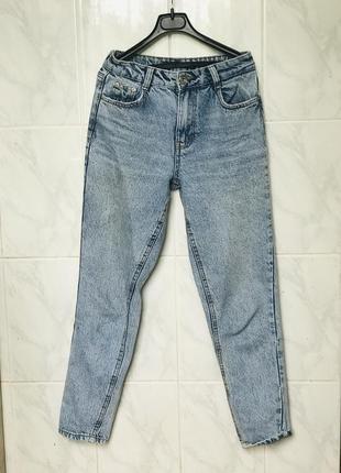 Джинсы мом mom джинсы bershka