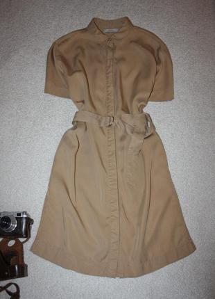 Платье -рубашка . платье с карманами под поясок. платье в стиле сафари