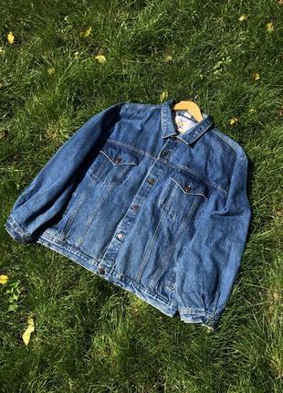 Винтажные джинсовая куртка oversize!