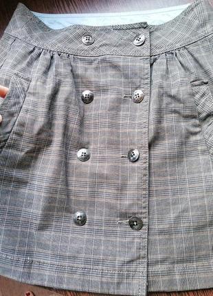 Коттоновая юбка esprit (сверху майка,рубашка,футболка,топ,блуза,лонгслив,боди внизу сандали,босоножки,кеды,кроссовки на девочку)
