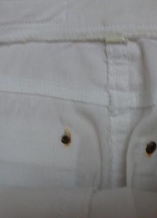 Стрейчеві білі cкіни/брюки, літо, підростковий розмір, 11р.+5