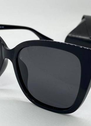 Atmosfera очки женские солнцезащитные черная глянцевая классика с поляризацией